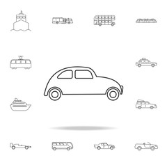 Car icon. Mini small urban city vehicle icon. Detailed set of transport outline icons. Premium quality graphic design icon. One of the collection icons for websites, web design