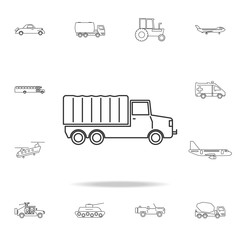 Army Truck icon. Detailed set of transport outline icons. Premium quality graphic design icon. One of the collection icons for websites, web design, mobile app