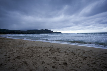 Hanalei Bay on a Stormy Day