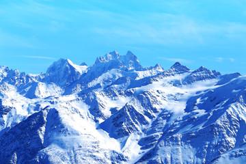 Photo landscape with Caucasian mountains