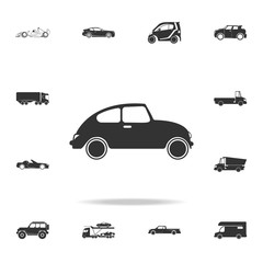 small retro car icon. Detailed set of transport icons. Premium quality graphic design. One of the collection icons for websites, web design, mobile app