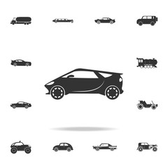 electro sport car icon. Detailed set of transport icons. Premium quality graphic design. One of the collection icons for websites, web design, mobile app