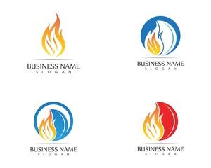 Fire flame logo design concept