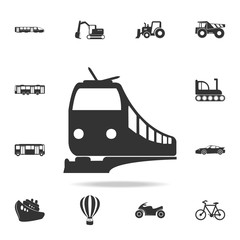 Train icon. Detailed set of transport icons. Premium quality graphic design. One of the collection icons for websites, web design, mobile app