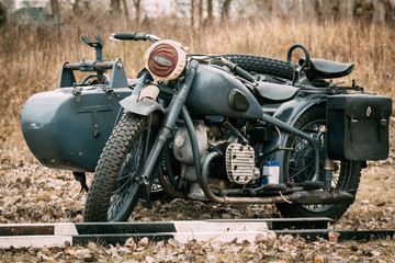Motorcycle troops Wehrmacht gray