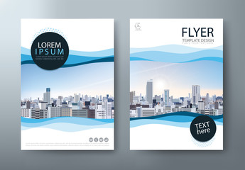 Flyer design, Leaflet, book cover template vector.
