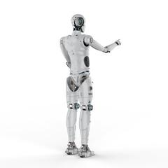 robot finger point