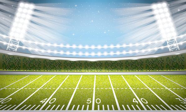 American Football Stadium Arena.
