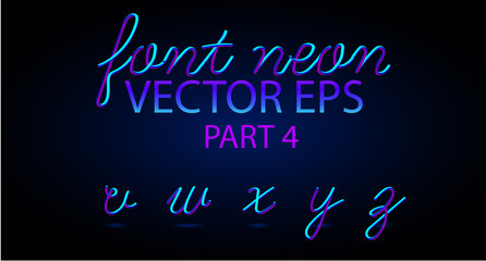 Neon 3D Typeset with Rounded Shapes. Font Set of Painted Letters. Matte Liquid Colors 80s ans 90s style. Night Glow Effect. Tube Alphabet. ABC for DJ Poster, Sale Banner, Signboard, Advertising.