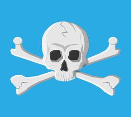 Death skull and crossbones.