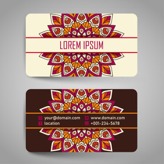 Vintage decorative business card