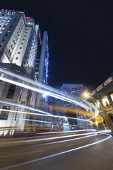 Night Traffic in Hong Kong city