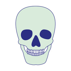 skull head skeleton icon vector illustration design