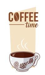 Coffee time concept cartoon