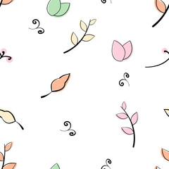 Doddle flower, leaf, branch pattern Vector eps 10