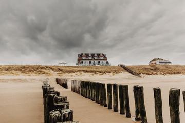 Altes Herrenhaus am Strand