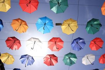 şemsiye renkler gökyüzü güneş bakış