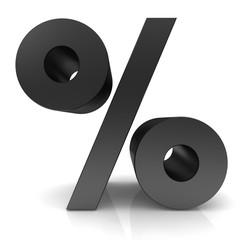percent 3d black sign percentage symbol icon