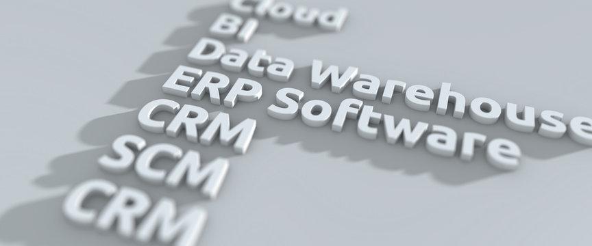 ERP, SCM, CRM und BI - Typolösung in 3D