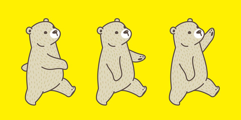 Bear vector Polar Bear breed walk illustration character cartoon doodle