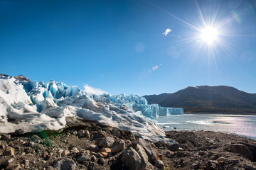 The Perito Moreno glacier in Glaciares National Park outside El Calafate, Argentina