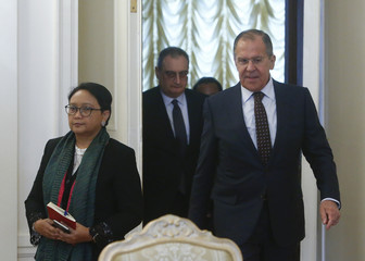 Russian Foreign Minister Lavrov meets with his Indonesian counterpart Marsudi in Moscow