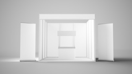 white exhibition stand design