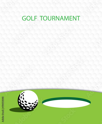 golf invitation flyer template graphic design stock image and