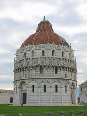 14.06.2017, Pisa, Italy: The Pisa Baptistery of St. John, the largest baptistery in Italy, in the Square of Miracles.