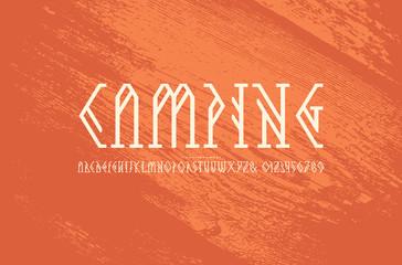 Decorative geometric serif font