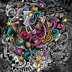Doodles Music vector illustration