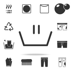 wash icon. Detailed set of laundry icons. Premium quality graphic design. One of the collection icons for websites, web design, mobile app