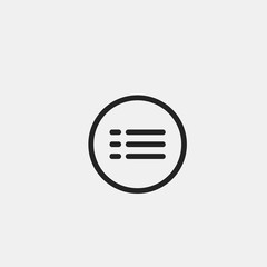 Hamburger Menu Vector Flat Icon