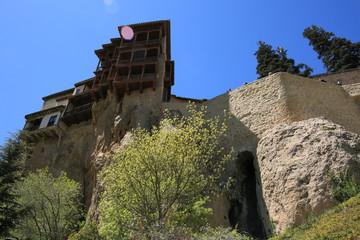 Casas colgadas, detalle, Cuenca, España