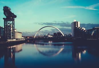 Clyde Arc Squinty Bridge, Glasgow, Scotland
