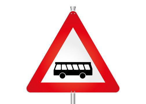 Straßenschild - Omnibus