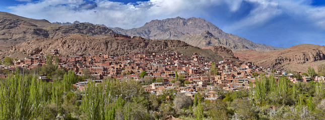 Old historical mountain village Abyaneh in Iran.