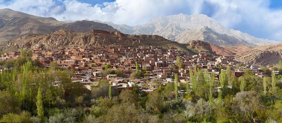 Panoramic view of Abyaneh village, Isfahan province, Iran.