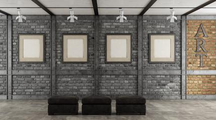 Art gallery in a loft