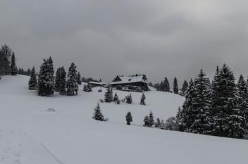Chata na zboczu góry