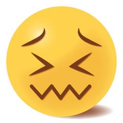 verzweifeltes Emoticon - 3D