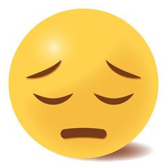 Emoji bedauernd - 3D