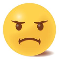 Emoji beleidigt - 3D