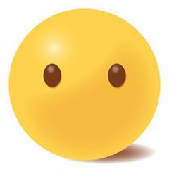 Emoji blank - Gesicht ohne Mund - 3D