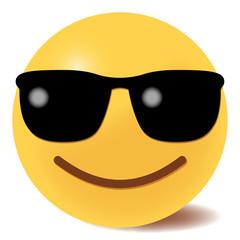 Emoji cool - mit Sonnenbrille - 3D