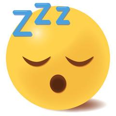 Emoji schlafend - 3D