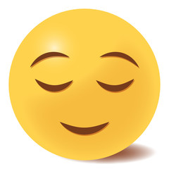 Emoji zufrieden - 3D