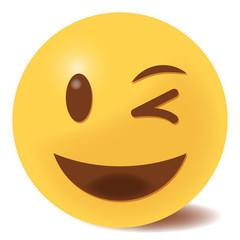 Emoji zwinkernd - 3D