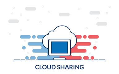 cloud sharing monitor icon