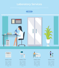 Laboratory Services Review Vector Illustration
